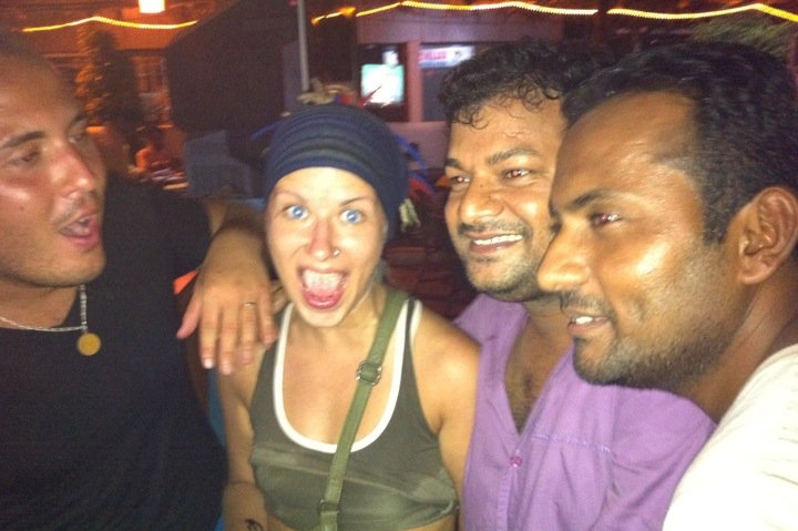 russian travellers in goa, india, party