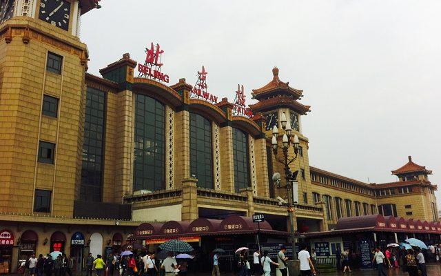 beijing, china, railway station