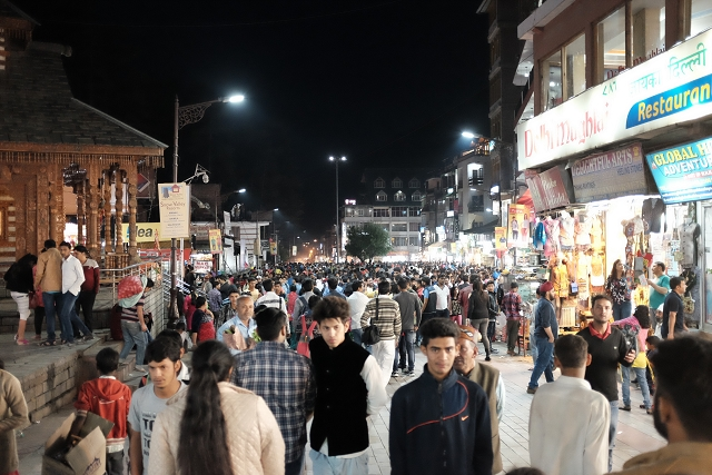 manali, city, night scene,
