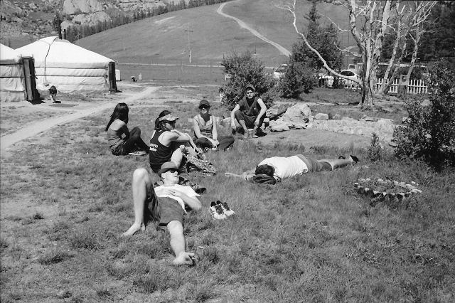backpackers, relax, picnic