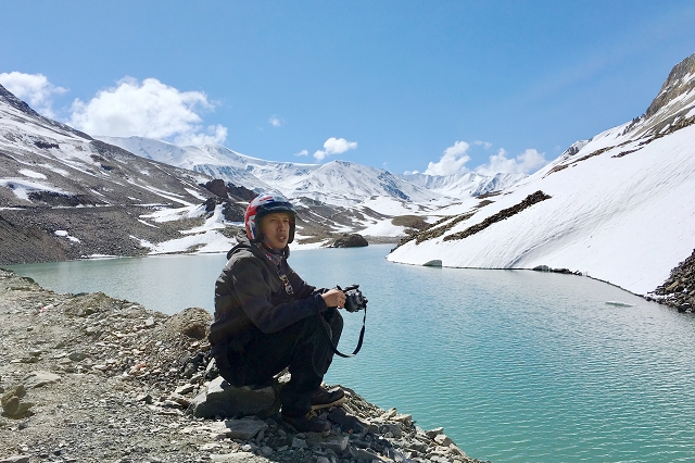 lake, india, himalayas, royal enfield, adventure, road trip