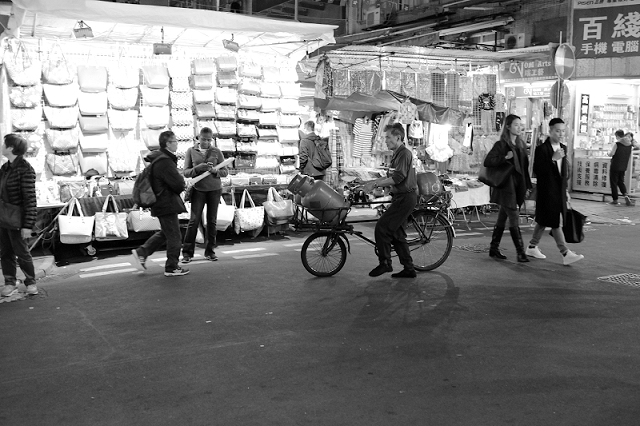 hong kong, travel, wanderlust, travel blog, street photography, black and white, fujifilm x100t, bicycle delivery, gas tank