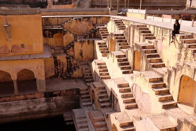 amber fort stepwell, jaipur, india, travel blog, travel review, wanderlust