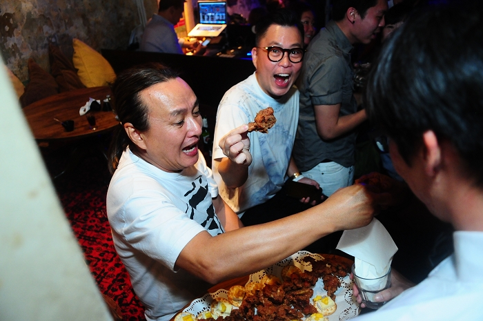 shrimp paste marinated chicken wings, no 5 emerald hill, 25th anniversary, nightlife, events , parties, photography, singapore