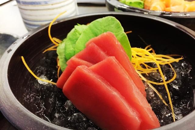 isurumuya, tuna sashimi, halal japanese restaurant