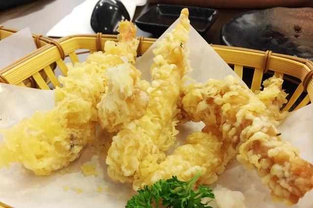 isuramuya, halal japanese restaurant singapore, tempura, prawn tempura, ebi tempura