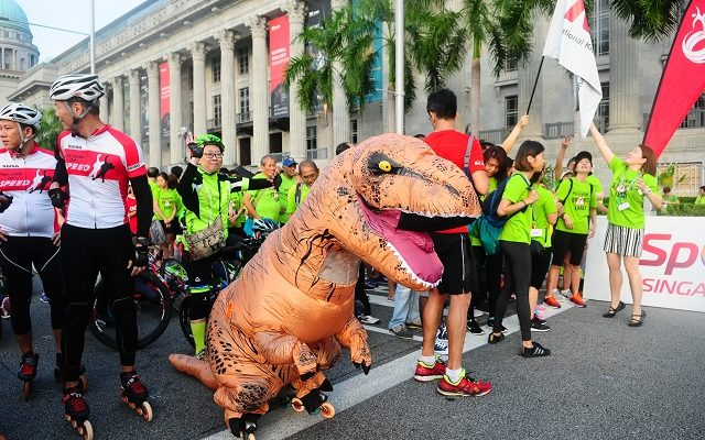 car free sunday singapore, t rex, events, singapore