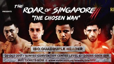 The Chosen Wan, Singapore's Amateur Boxers, IBO Intercontinental Title, Singapore's first world boxing champion,