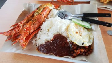 lawa bintang, nasi lemak lobster, halal singapore eats, halal food singapore