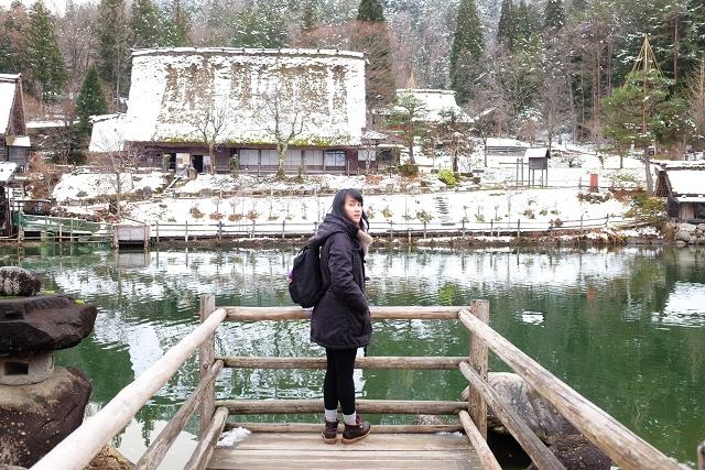 hida no sato, hida folk village, snowing in hida no sato, winter hida no sato, japan campervan road trip, japan travel adventures,