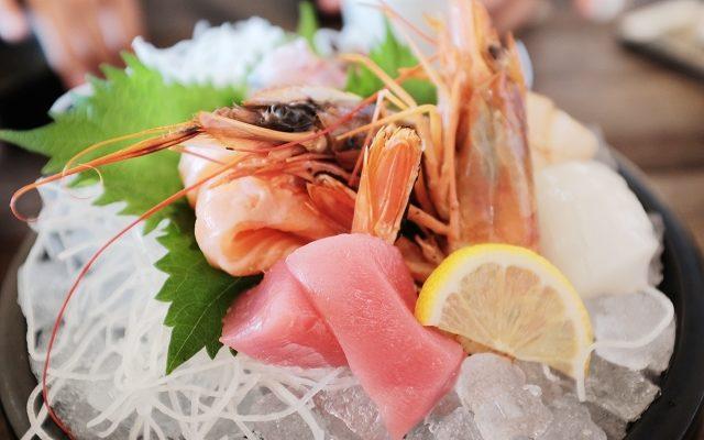nakanoshima fish market osaka, sashimi bowl,