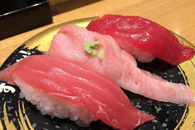sushi kuine toyama, sushi train toyama bay, japan delicious sushi train, tuna sushi, review of sushi kuine toyama,